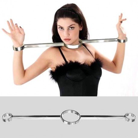 Straitjacket: Collier and handcuffs. Deluxe Series Stainless