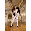 Baci: Bodystocking in white FishNet