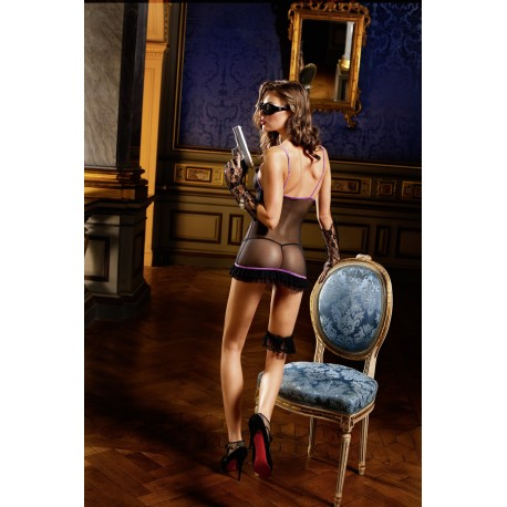 Baci: black and purple nightie