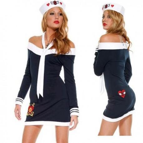 Costume: Snug sailor dress, sexy matelote!