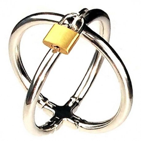 Handcuffs double ellipses with padlock