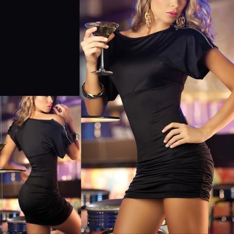 Black Teardrop sexy cocktail dress