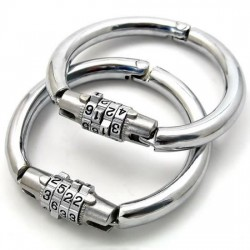 Handcuffs with code lock closure