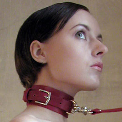 Leather Domination Collar