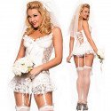 Costume sexy wedding gown